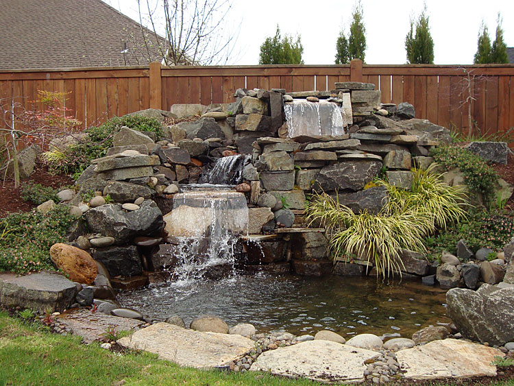 Water features installed in eugene springfield oregon for Large pond waterfall